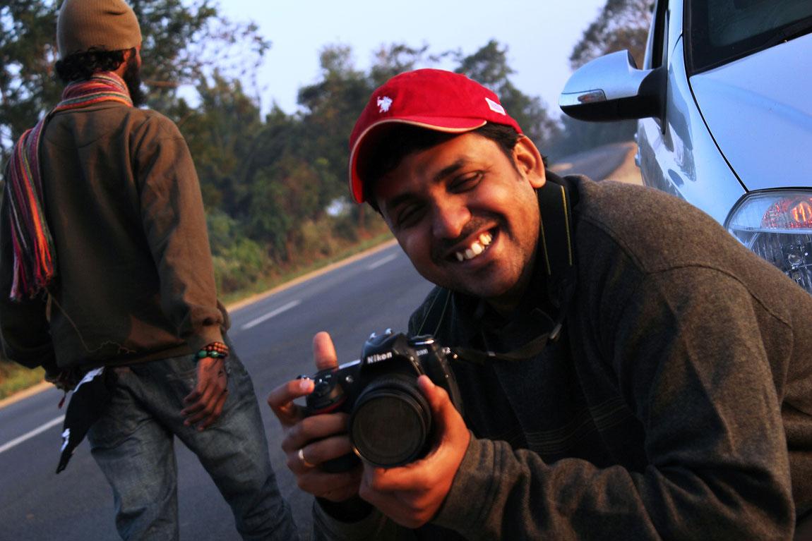 Candid shot of photographers