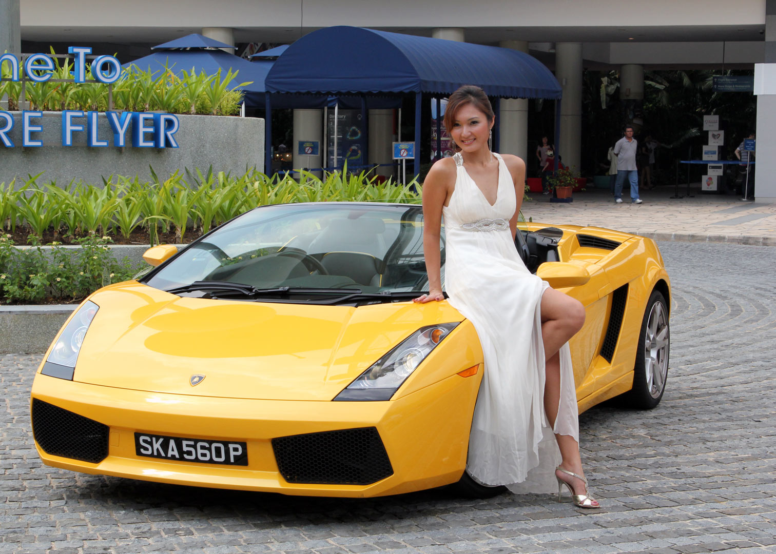 Fashion shoot at the Singapore Flyer