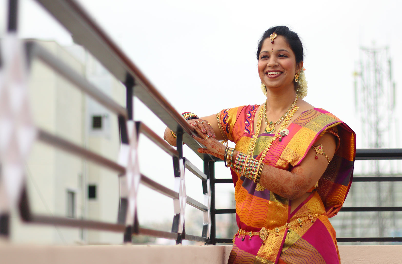 Bride all decked up on her wedding day